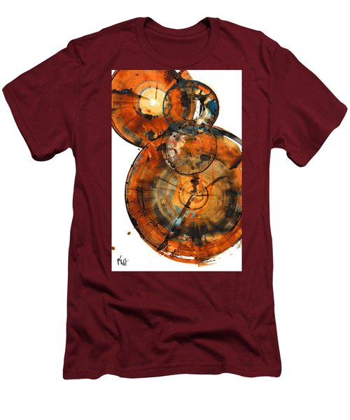 Men's T-Shirt (Athletic Fit) featuring the painting Sphere Series 1027.050412 by Kris Haas