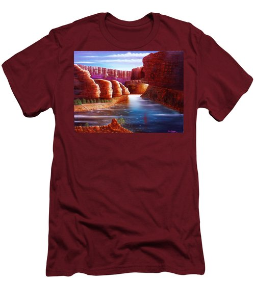 Spirits Of The River Men's T-Shirt (Slim Fit) by Gene Gregory