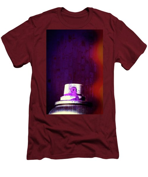 Men's T-Shirt (Slim Fit) featuring the mixed media Sprayed by Karol Livote