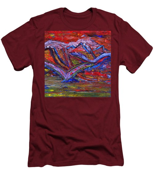 Men's T-Shirt (Slim Fit) featuring the painting Spread Your Wings by Vadim Levin
