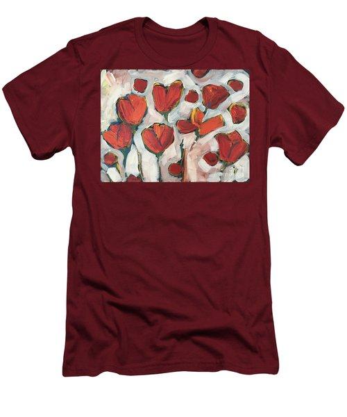 Spring Tulip Garden Men's T-Shirt (Athletic Fit)