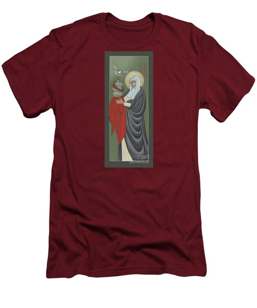 Men's T-Shirt (Athletic Fit) featuring the painting St Catherine Of Siena- Guardian Of The Papacy 288 by William Hart McNichols