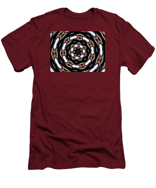 Men's T-Shirt (Slim Fit) featuring the photograph Stained Glass Kaleidoscope 12 by Rose Santuci-Sofranko