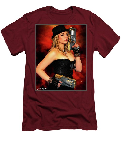Steam Punk Gun Figther Men's T-Shirt (Athletic Fit)