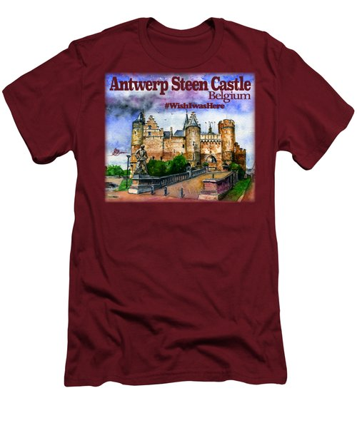 Steen Castle Antwerp Men's T-Shirt (Athletic Fit)