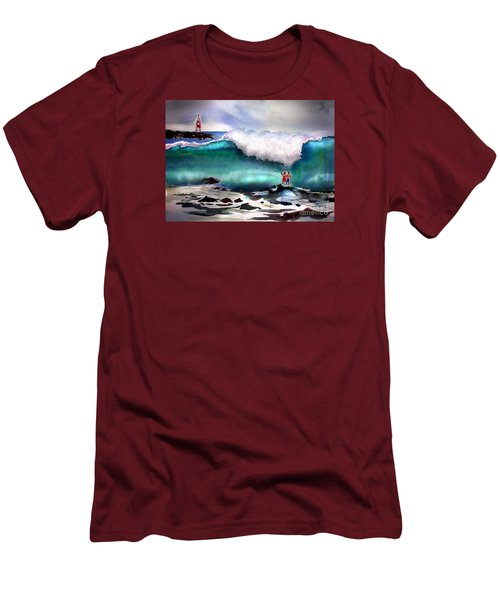 Storm Surf Moment Men's T-Shirt (Athletic Fit)