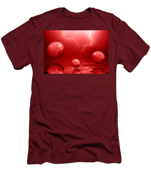 Stormy Skies - Red Men's T-Shirt (Athletic Fit)