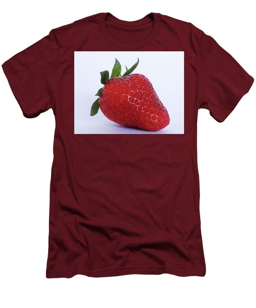 Strawberry Men's T-Shirt (Slim Fit) by Julia Wilcox
