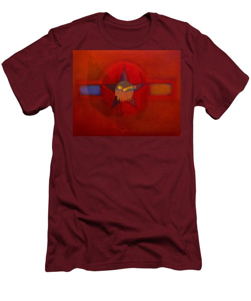 Men's T-Shirt (Slim Fit) featuring the painting Sub Decal by Charles Stuart