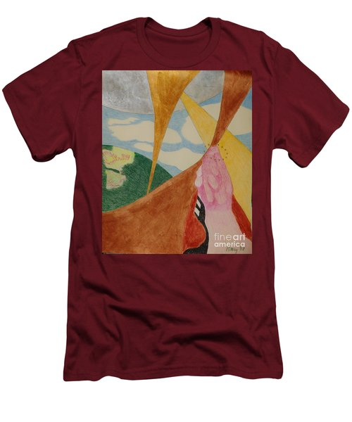 Men's T-Shirt (Athletic Fit) featuring the drawing Subteranian  by Rod Ismay