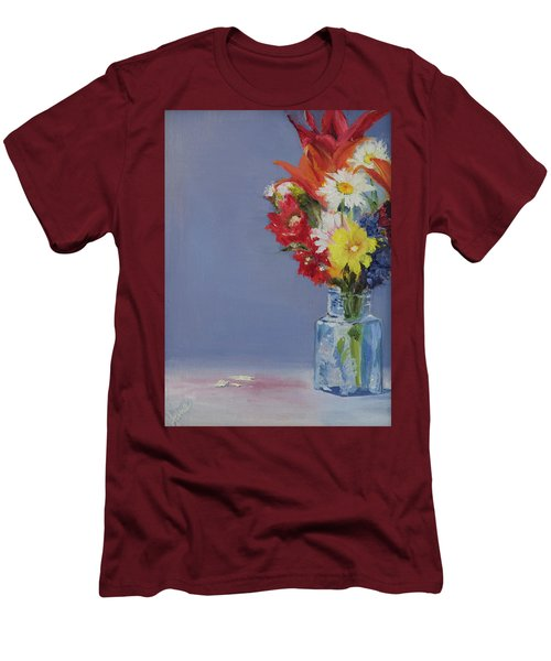 Men's T-Shirt (Slim Fit) featuring the painting Summer Bouquet by Jane Autry