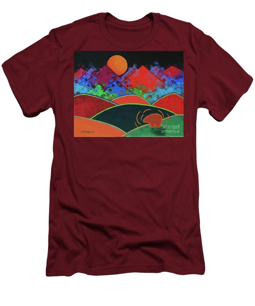 Summer Guardian Bear Men's T-Shirt (Slim Fit) by Jeanette French