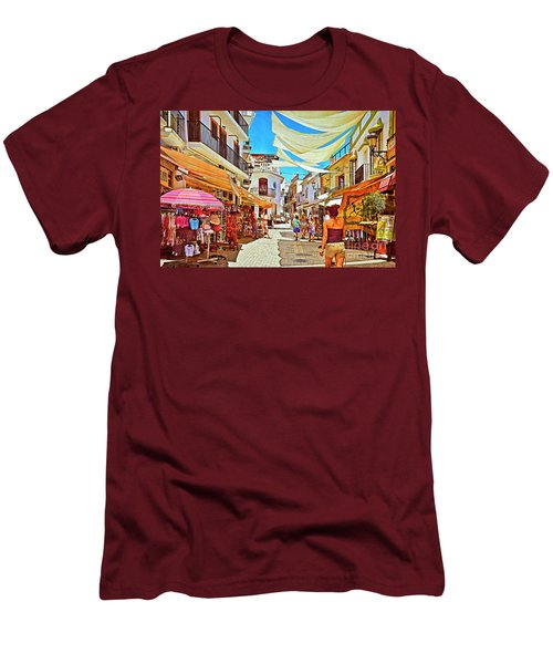 Men's T-Shirt (Slim Fit) featuring the photograph Summer In Malaga by Mary Machare