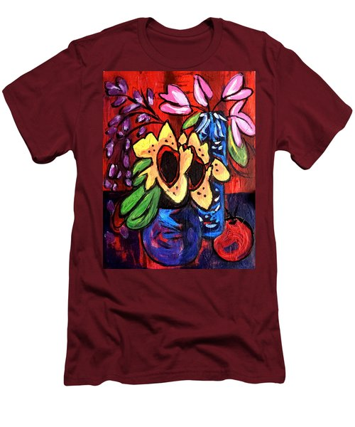 Sunflowers And Tulips Men's T-Shirt (Athletic Fit)