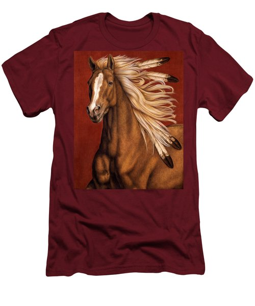 Men's T-Shirt (Slim Fit) featuring the painting Sunhorse by Pat Erickson