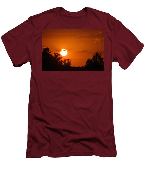 Men's T-Shirt (Slim Fit) featuring the photograph Sunset In Charleston by Donna Bentley