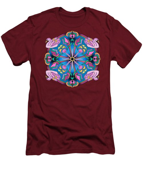 Swans Of Pink Men's T-Shirt (Athletic Fit)