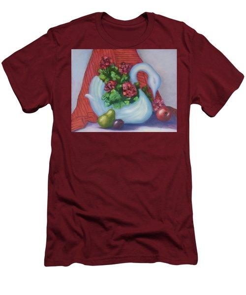 Swanza's Swan Men's T-Shirt (Slim Fit) by Quwatha Valentine