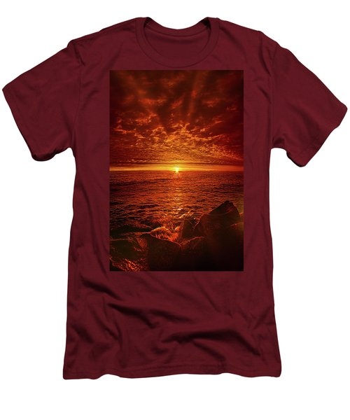 Men's T-Shirt (Slim Fit) featuring the photograph Swiftly Flow The Days by Phil Koch