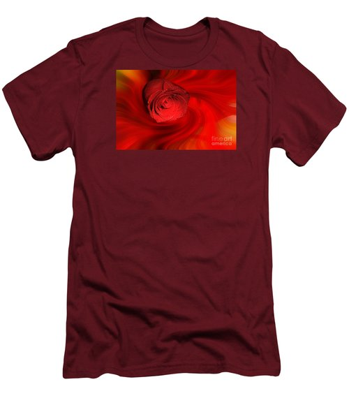 Swirling Rose Men's T-Shirt (Athletic Fit)