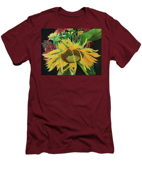Men's T-Shirt (Slim Fit) featuring the painting Tender Mercies by Jane Autry