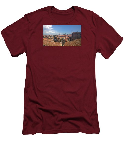 Men's T-Shirt (Athletic Fit) featuring the photograph Terracotta Rooftops by Anne Kotan