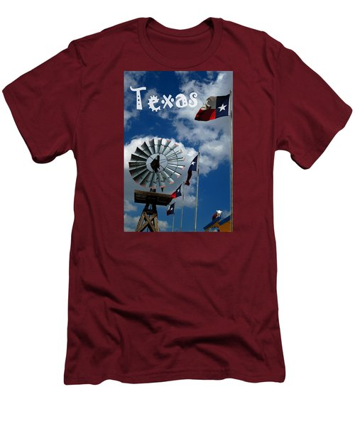 Texas Men's T-Shirt (Slim Fit) by Bob Pardue