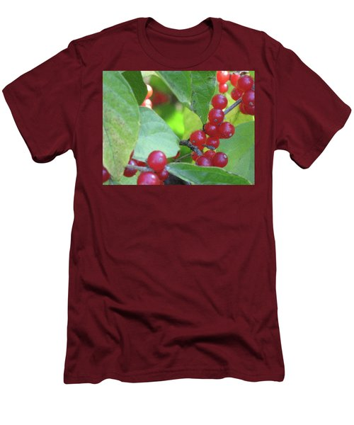 Textured Berries Men's T-Shirt (Slim Fit) by Michele Wilson