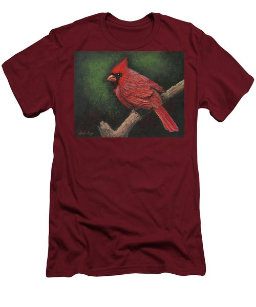 Textured Cardinal Men's T-Shirt (Athletic Fit)