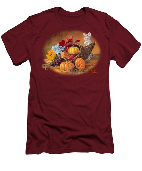Thankful Men's T-Shirt (Slim Fit) by Lucie Bilodeau