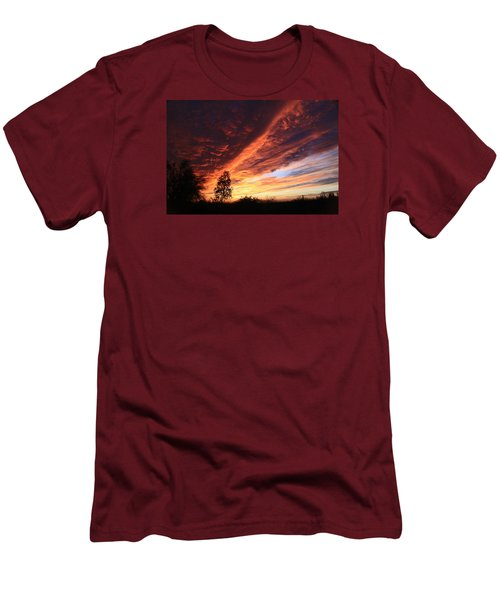 Men's T-Shirt (Slim Fit) featuring the photograph Thanksgiving Sunset by Gary Kaylor
