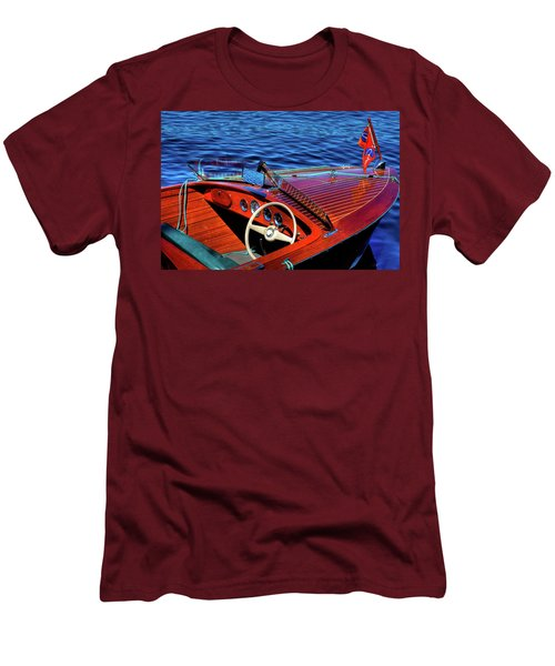 The 1958 Chris Craft Men's T-Shirt (Slim Fit) by David Patterson