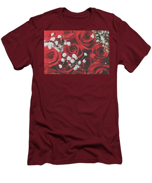 Men's T-Shirt (Slim Fit) featuring the photograph The Color Of Love by Laurie Search