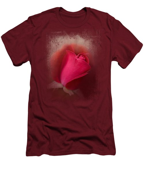 The First Red Rose Men's T-Shirt (Slim Fit) by Jai Johnson