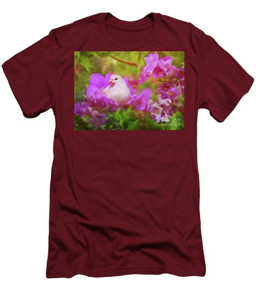 The Garden Of White Dove Men's T-Shirt (Athletic Fit)