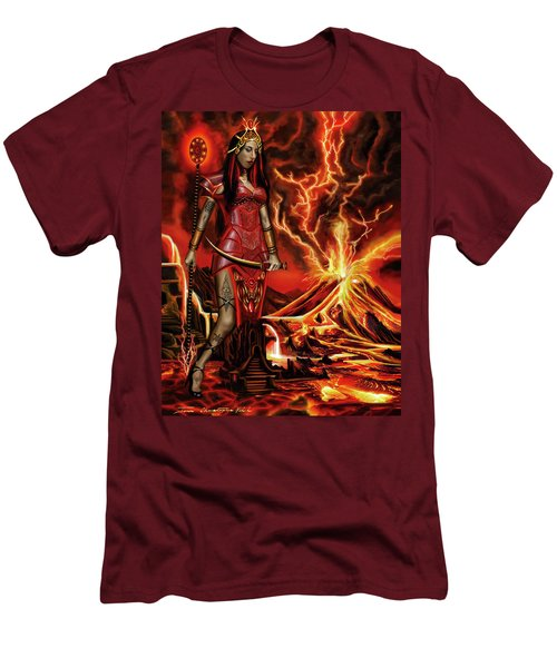 The Goodess Pele Of Hawaii Men's T-Shirt (Slim Fit) by James Christopher Hill