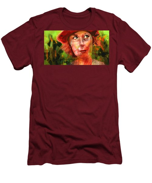 Men's T-Shirt (Slim Fit) featuring the painting The Happy Gardener by Jim Vance
