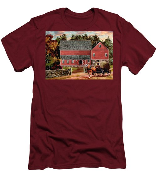 The Last Wagon Men's T-Shirt (Slim Fit) by Ron Chambers