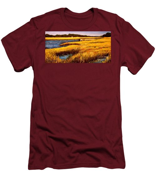 The Marsh At Cherry Grove Myrtle Beach South Carolina Men's T-Shirt (Athletic Fit)