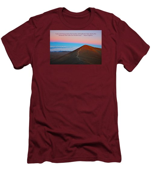 The Moments That Take Our Breath Away Men's T-Shirt (Slim Fit) by Venetia Featherstone-Witty