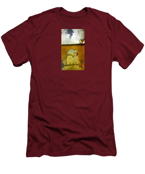 Men's T-Shirt (Slim Fit) featuring the photograph The Red Archway by Anne Kotan