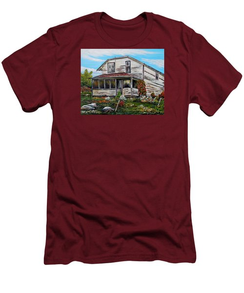 Men's T-Shirt (Slim Fit) featuring the painting This Old House 2 by Marilyn  McNish