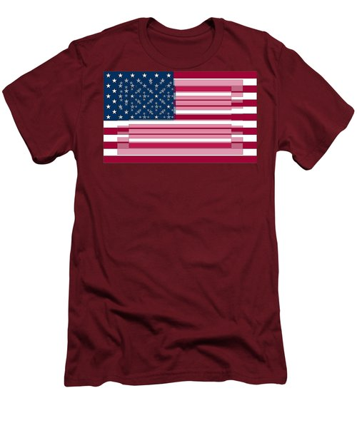 Three Layered Flag Men's T-Shirt (Athletic Fit)