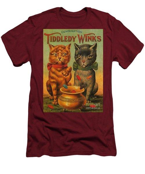 Tiddledy Winks Funny Victorian Cats Men's T-Shirt (Slim Fit) by Peter Gumaer Ogden Collection