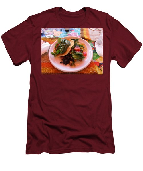 Men's T-Shirt (Athletic Fit) featuring the photograph Tostada Times Two by Marie Neder