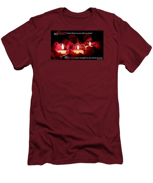 Men's T-Shirt (Slim Fit) featuring the photograph Touch My Soul by David Norman