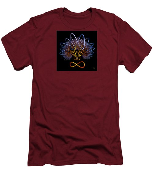 Men's T-Shirt (Slim Fit) featuring the digital art Transinfinity - A Fractal Artifact by Manny Lorenzo