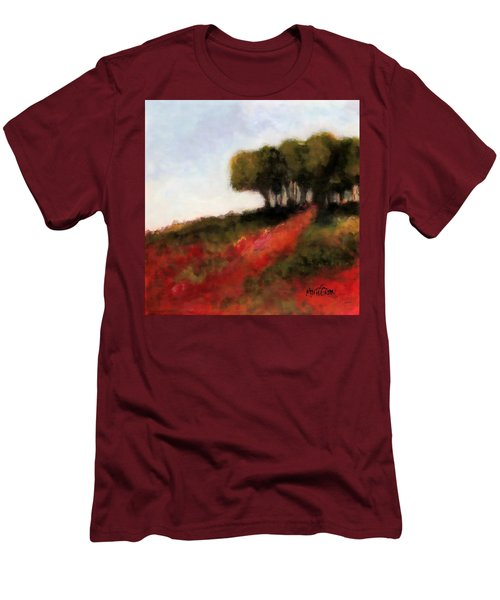 Trees On The Hill Men's T-Shirt (Slim Fit) by Marti Green