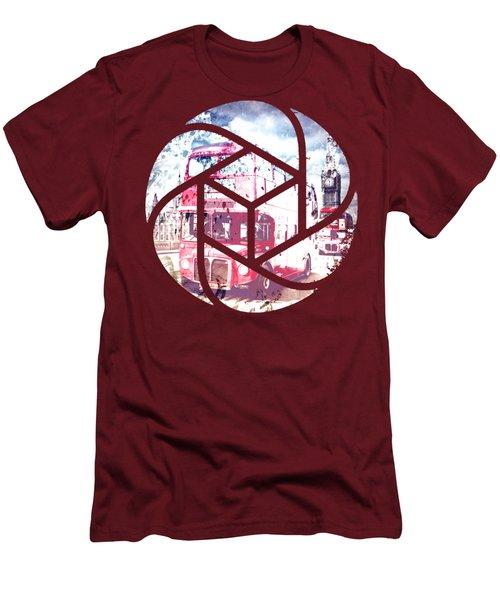 Trendy Design London Red Buses  Men's T-Shirt (Slim Fit) by Melanie Viola