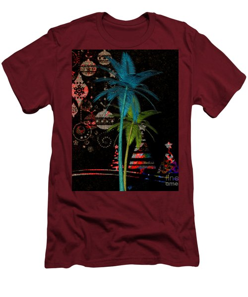 Men's T-Shirt (Slim Fit) featuring the digital art Tropical Holiday Red by Megan Dirsa-DuBois